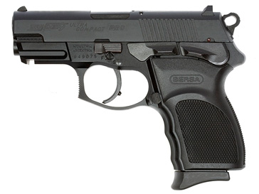 Stock picture of a pistol Bersa Thunder 9, black