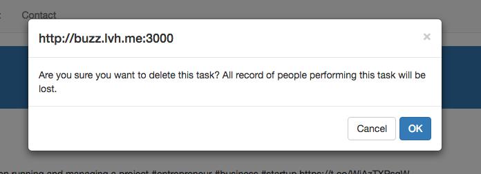 Call to Buzz - bootstrap dialog